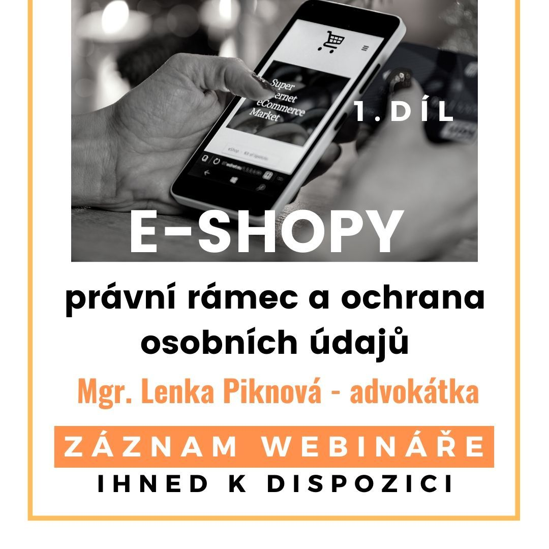 e-shopy, právní rámec GDPR