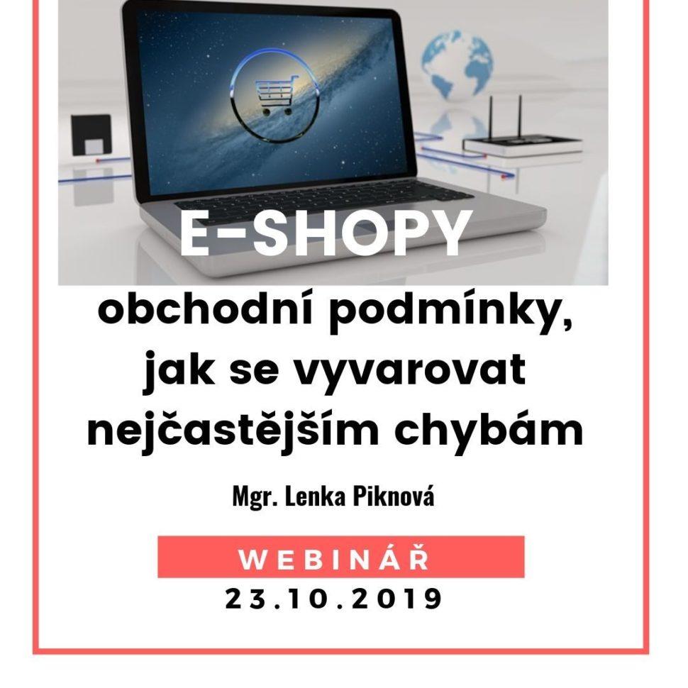 E-shopy obchodní podmínky