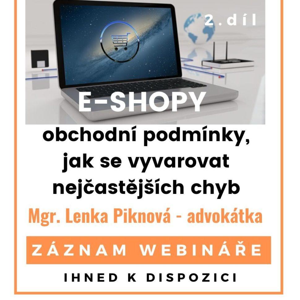 e-shopy. obchodní podmínky