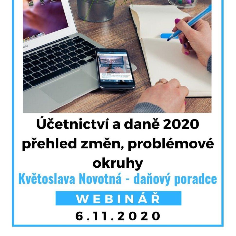 Účetnictví a daně 2020 – přehled změn, problémové okruhy