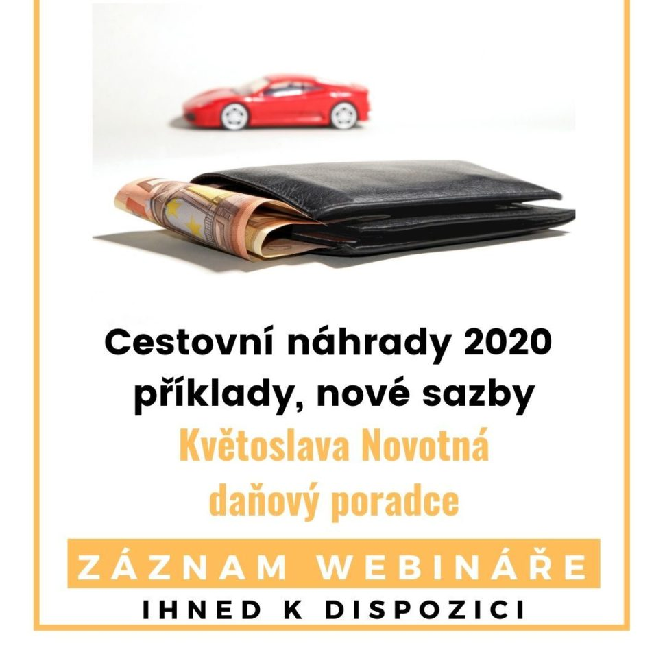 Cestovní náhrady 2020 záznam webináře