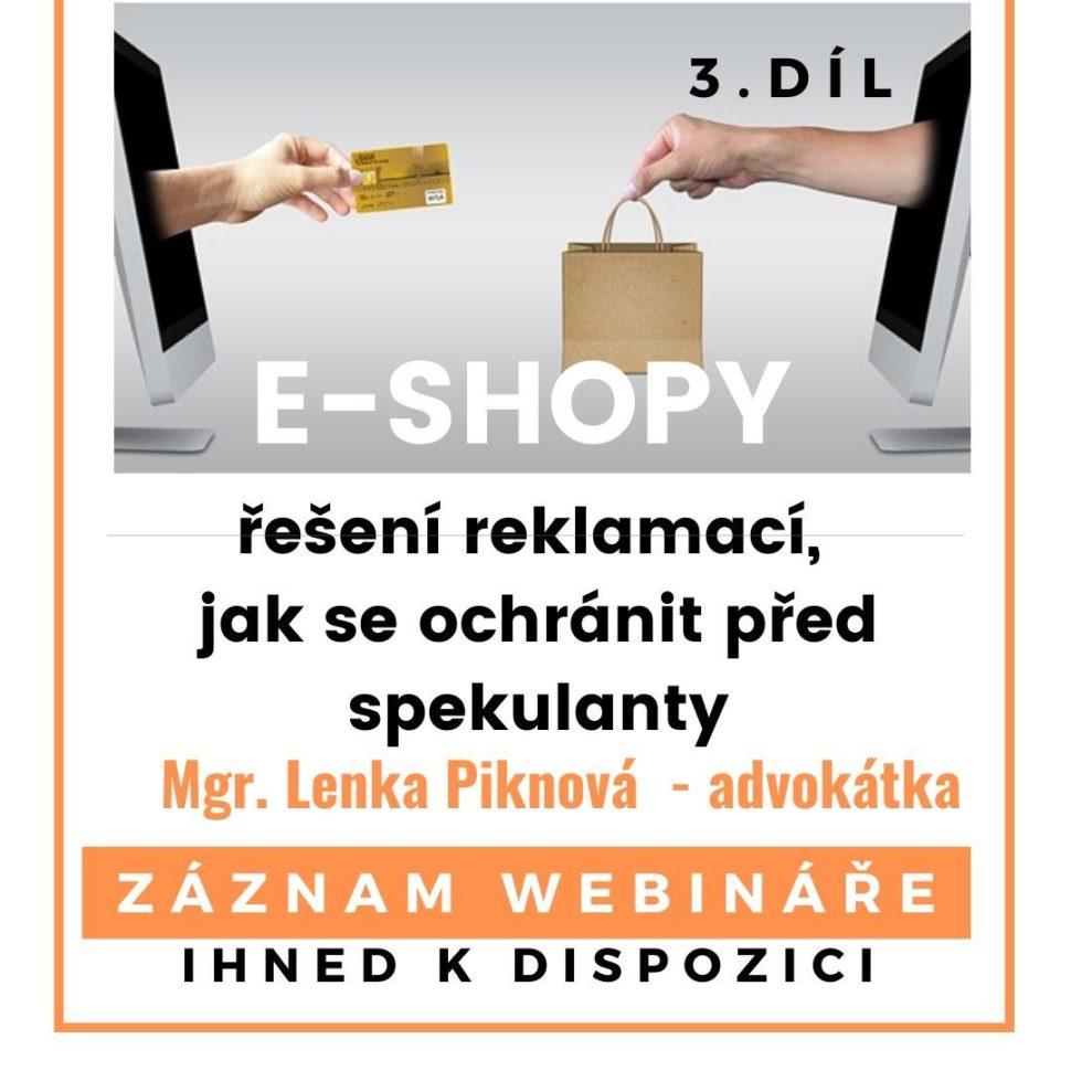 E-shopy, řešení reklamací