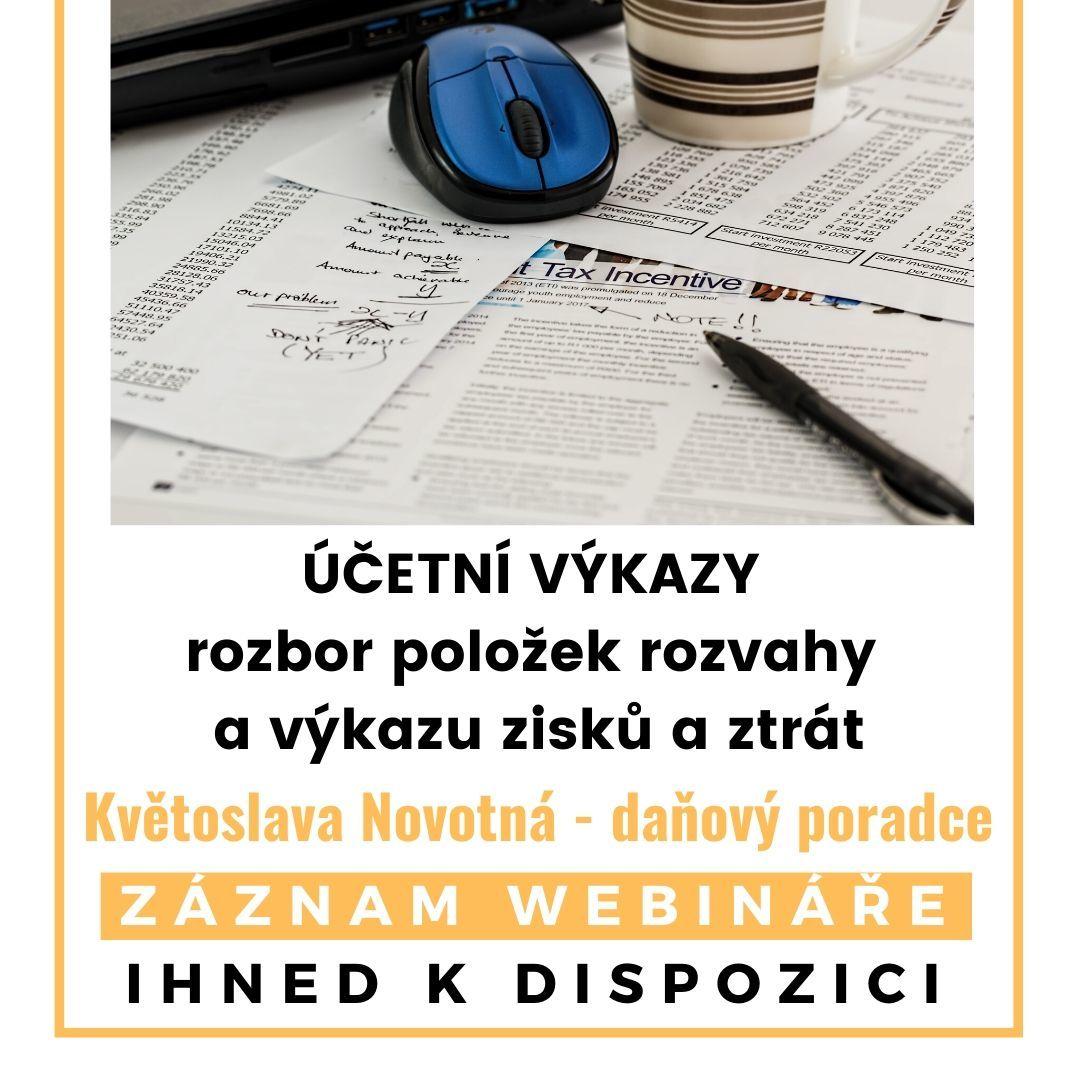 Účetní výkazy -webinář