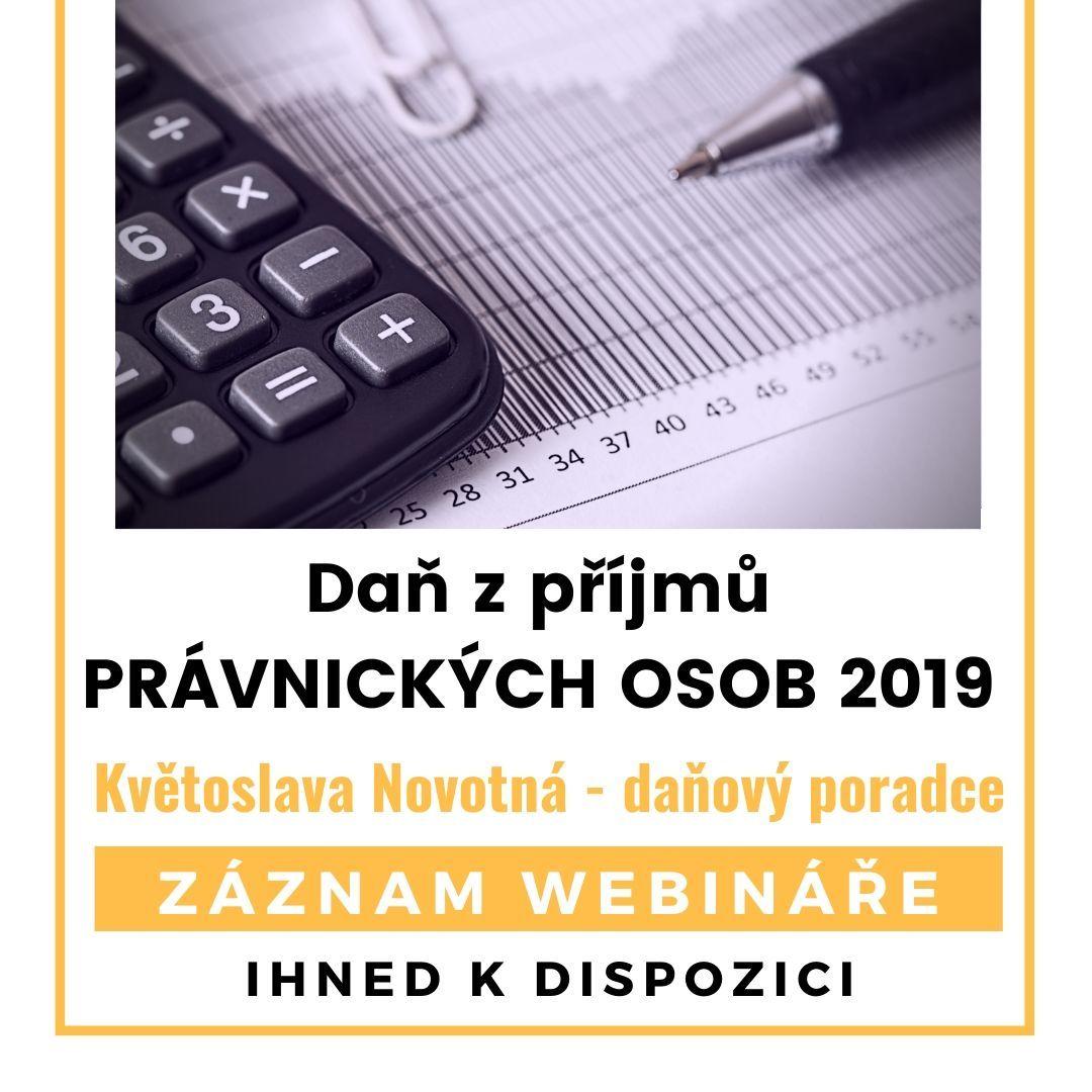 Daň z příjmů právnických osob - záznam webináře ihned k dispozici